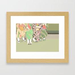 Kyoto matcha Framed Art Print