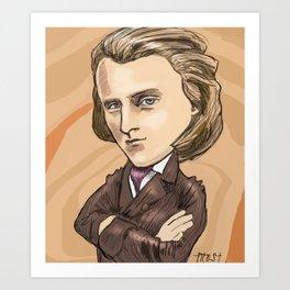 Younger Brahms Art Print