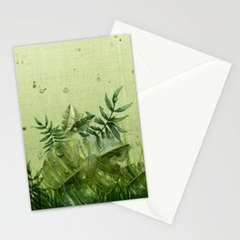 """Forest leaves and plants"" Stationery Cards"