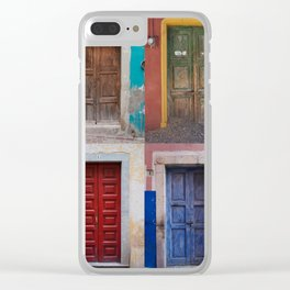 Mexican Doors Clear iPhone Case