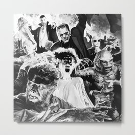 Classic monsters Metal Print