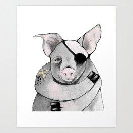 Living Pig Art Print
