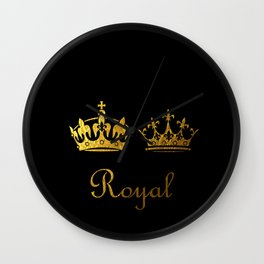 Royal King & Queen Wall Clock