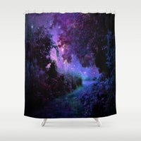 fantasy Shower Curtains featuring Fantasy Path Purple by 2sweet4words Designs