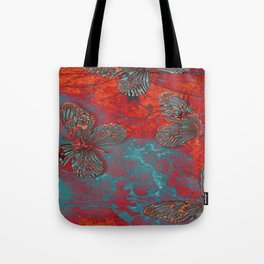 WATER FIRE AND BUTTERFLIES Tote Bag