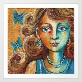 Azure Maiden Art Print