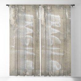 Fragile city Sheer Curtain