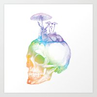 mushroom Art Prints featuring Mushroom by dogooder