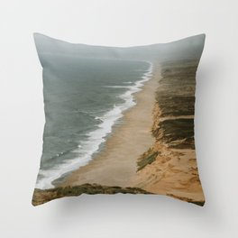 Point Reyes Coastline Throw Pillow