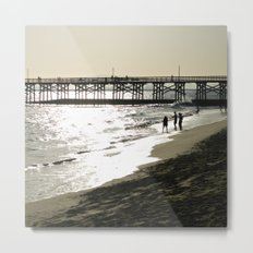 The Day's End at Seal Beach Metal Print