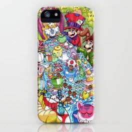 Mario Tea Party iPhone Case