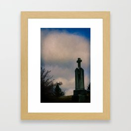 Grave on the Hill Framed Art Print