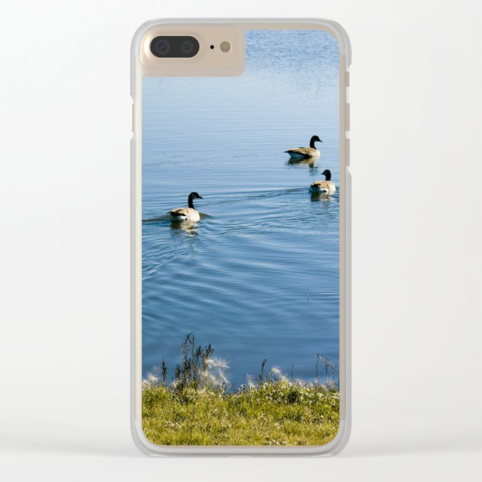 Canada Geese Clear iPhone Case