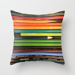 Colored Pencil Paradise Throw Pillow