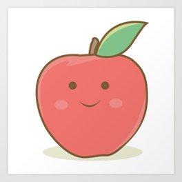 I'm a happy apple :) Art Print