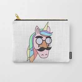 Unicorn Mask People Glasses Beard halloween Dress Up Carnival Kids Gift Idea Carry-All Pouch