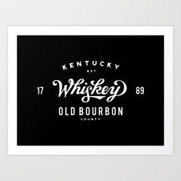 Old Bourbon Whiskey Art Print