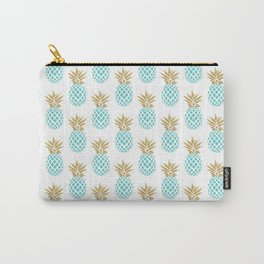 Elegant faux gold pineapple pattern Carry-All Pouch
