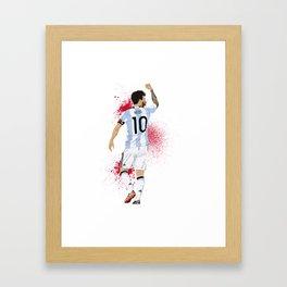 Lionel Messi Framed Art Print