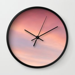 Purple Sky with Orange Clouds Wall Clock