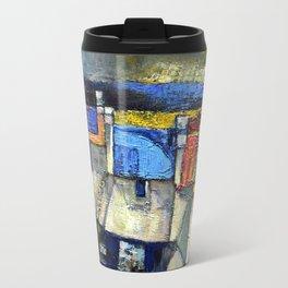 coastal Village,Ireland(acrylic on canvass). Travel Mug