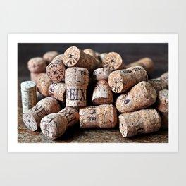 Cork of Champagne Art Print