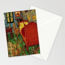 Van Gogh, bedroom in arles– Van Gogh,Vincent Van Gogh,impressionist,post-impressionism,brushwork,pai Stationery Cards