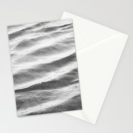 Black and White Water Ripple Photography, Grey Ocean Ripples, Gray Neutral Sea Waves, Seascape Wave Stationery Cards