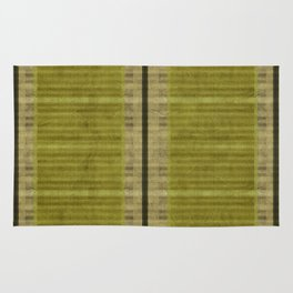 """Simple Oriental Curtains (Green)"" Rug"