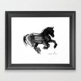 Horse (Devil cantering) Framed Art Print