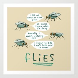fLIES Art Print