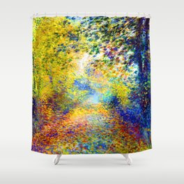 Renoir In the Woods Shower Curtain