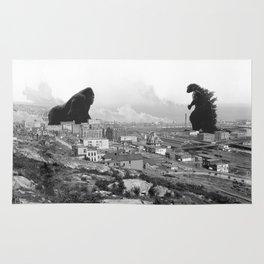 Old time Godzilla vs King Kong Reprised Rug