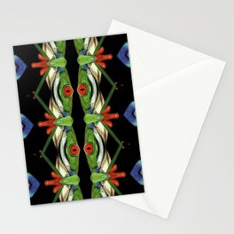 One eyed frog monster Stationery Cards