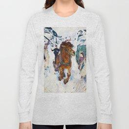 Galloping Horse by Edvard Munch Long Sleeve T-shirt