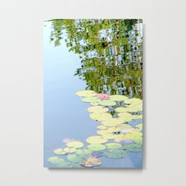 Autumn Waterlillies Metal Print