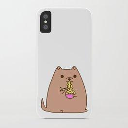 Pupsheen Eating Ramen iPhone Case