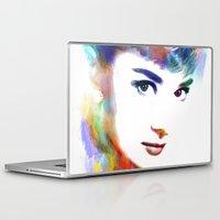 hepburn Laptop & iPad Skins featuring Audrey Hepburn by Michael Akers