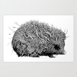 Leaf Hedgehog Art Print