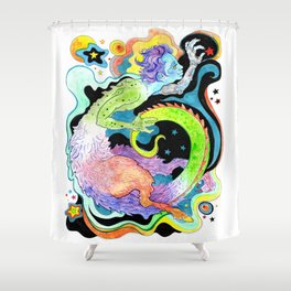 The Shapeshifter Shower Curtain