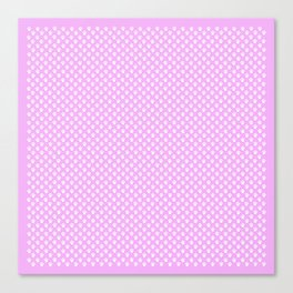 Tiny Paw Prints Pretty Pink Pattern Canvas Print