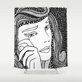 Roy Lichtenstein - Crying girl Shower Curtain