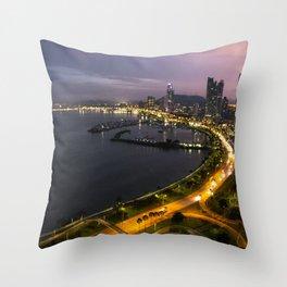 Panama City at Dusk Throw Pillow