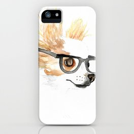 Chihuahua Hipster iPhone Case