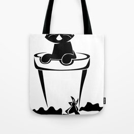 Silhouette In The Flower Pot Tote Bag