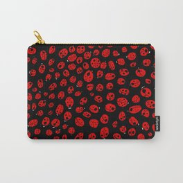 Ladybugs (Red on Black Variant) Carry-All Pouch