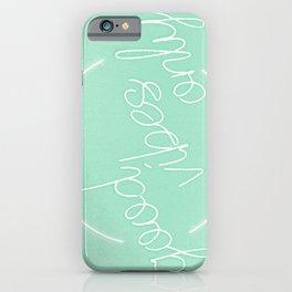 Mint Green Grass Good Vibes Minimalist iPhone Case