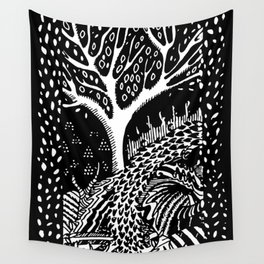 The woods are lovely, dark and deep Wall Tapestry