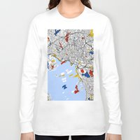 oslo Long Sleeve T-shirts featuring Oslo mondrian by Mondrian Maps