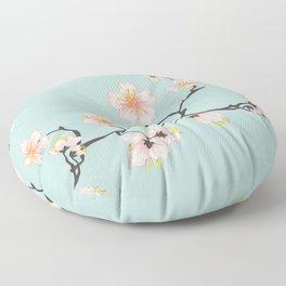 Sakura Cherry Blossoms x Mint Green Floor Pillow
